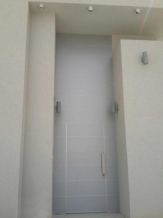 דלת פלדיניום קו אפס באור יום הכוללת חיפוי לכל גובה הקיר