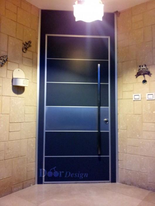 דלת פלדיניום מסדרת קו אפס D7056