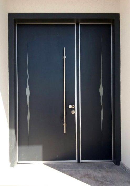 דלת פלדיניום עם חיתוך לייזר דגם D7153