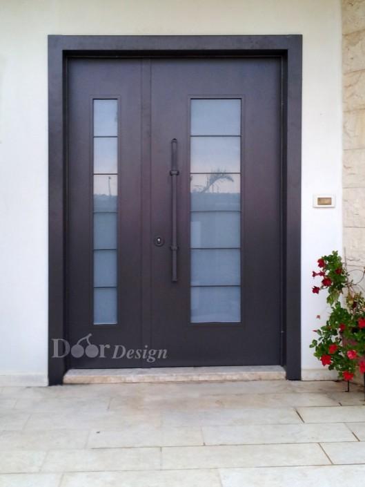 D9563 דלת כניסה חלונות.
