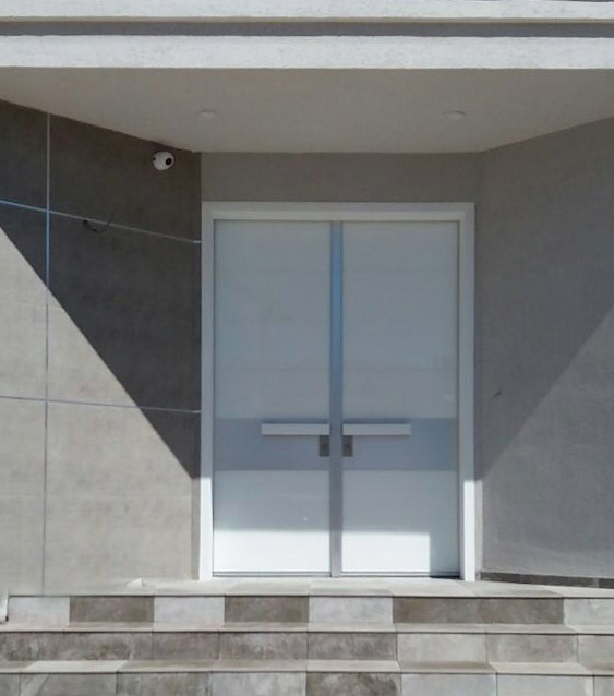 דלת פלדיניום כנף כפולה-סדרת פסים