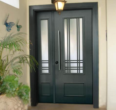 דלת כניסה פלדה מסדרת נפחות הכוללת כנף וחצי