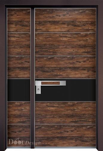 דלת פלדה חיפוי דמוי עץ