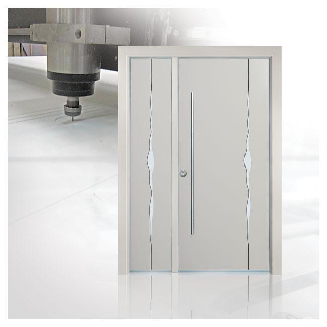דלת פלדיניום לבנה חיתוך ממוחשב