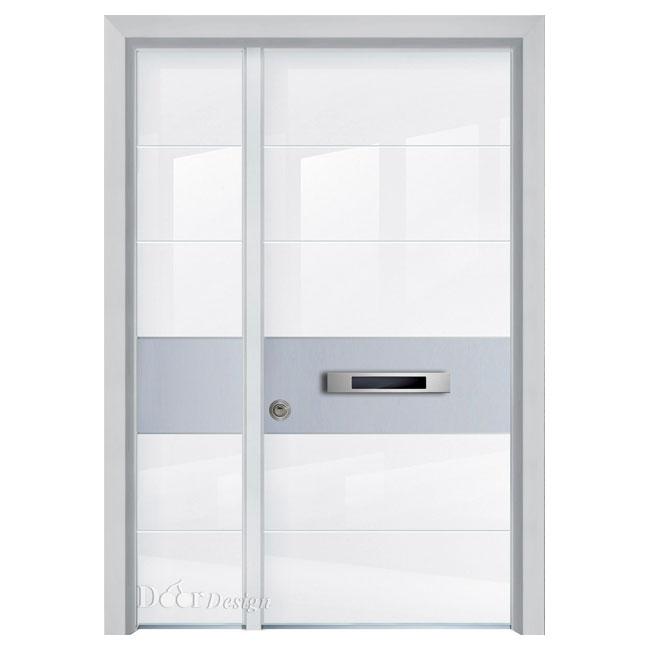 דלתות פלדיניום זכוכית D7203