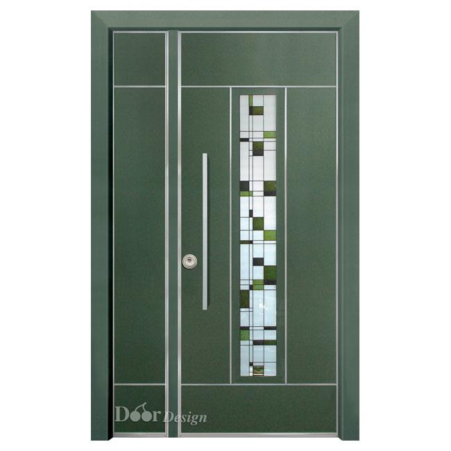 D7225 דלת פלדיניום ירוקה