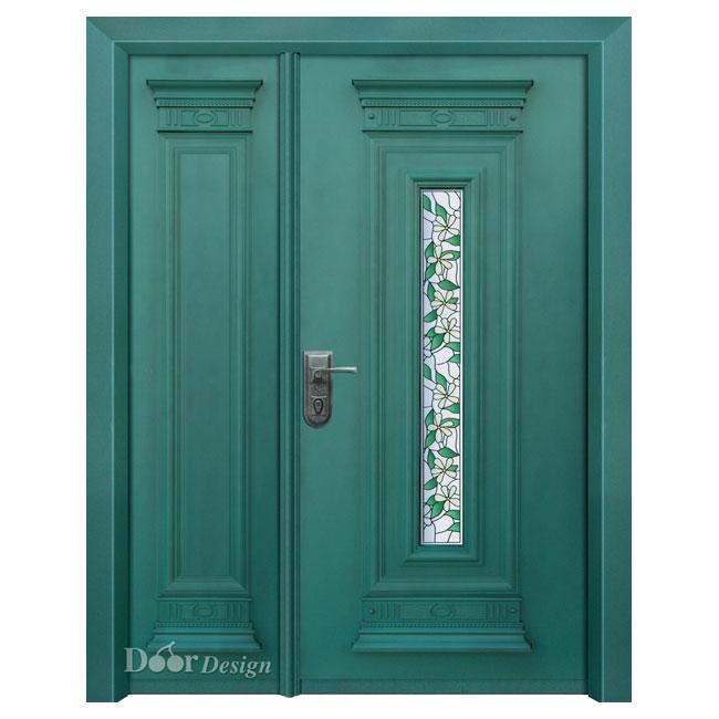 דלתות פלדה D9617 צבע ירוק