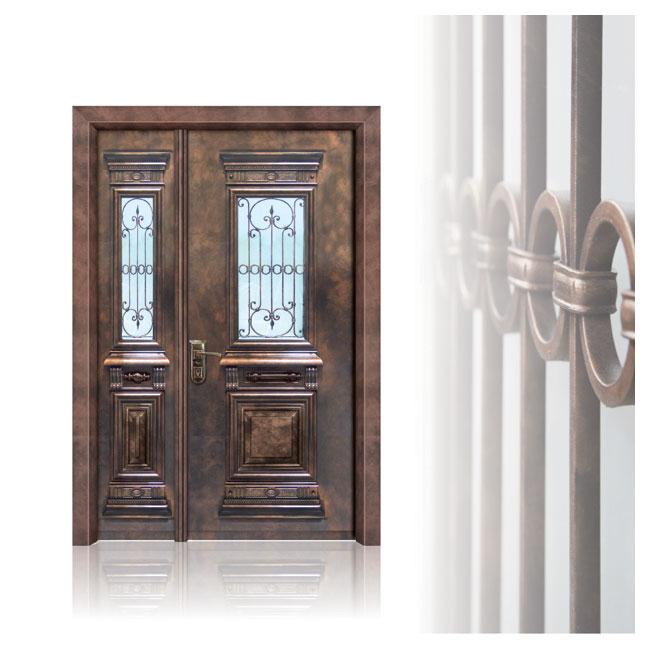 דלת פלדה בסגנון יווני תדמית
