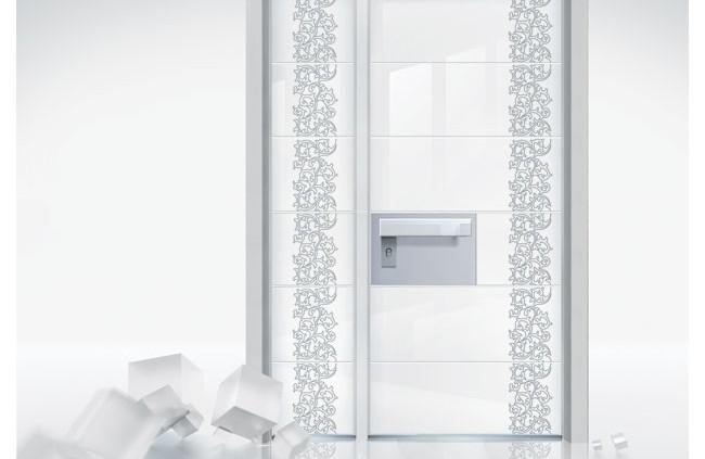 דלת פלדיניום בחיפוי זכוכית