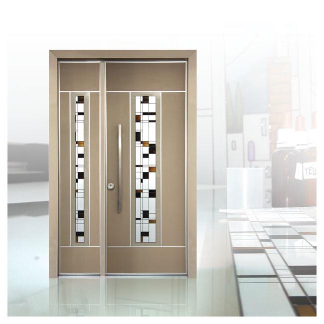 D9810 דלת ויטראז' בגוון זהב
