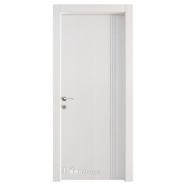 דלת פנים עם עיצוב פסי אורך מניקל