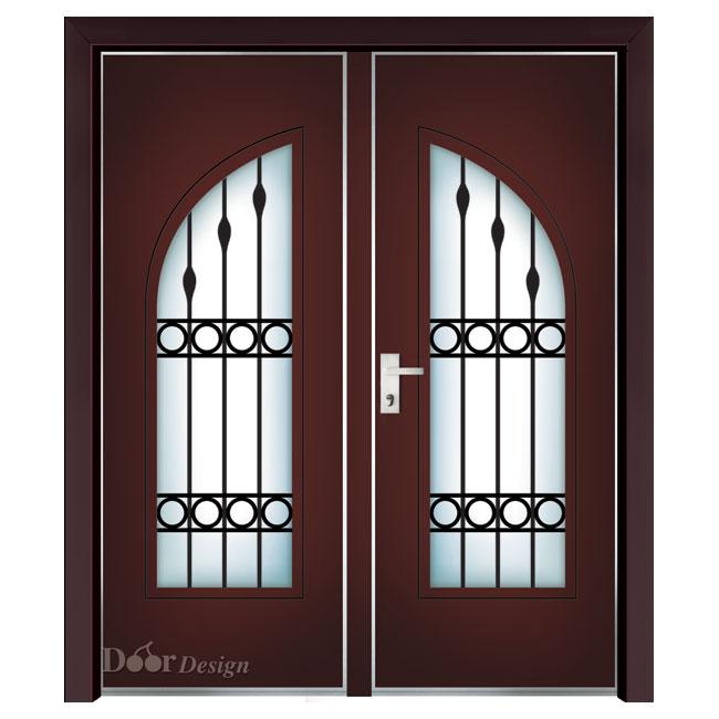 דלת כניסה כפולה דגם כפרי