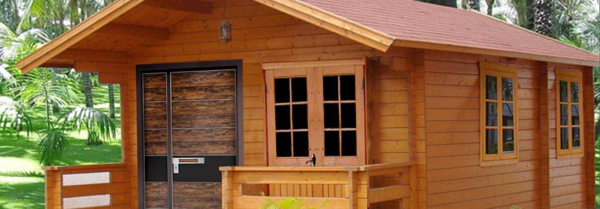 דלת דמוי עץ