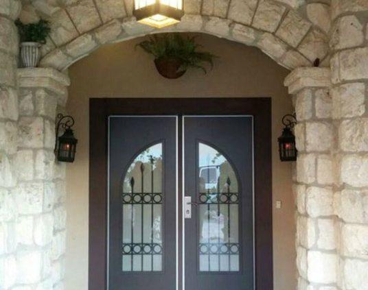 דלת פלדניום כפולה בסגנון כפרי
