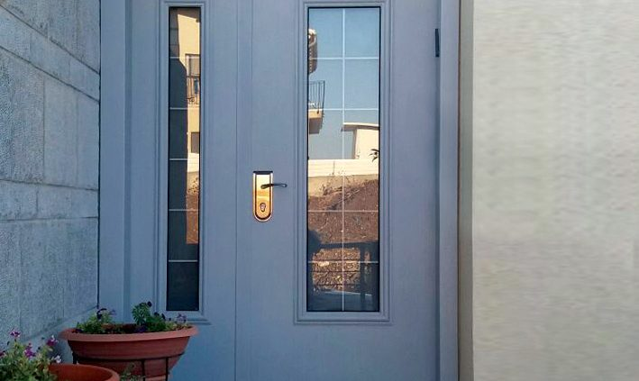 דלת פלדה כנף וחצי מסדרת חלון פנורמה